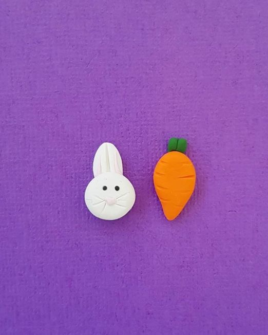 Easter Gift Easter Bunny and Carrot Stud Earrings Buy Now
