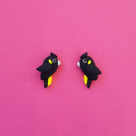 Black Cockatoo Earrings