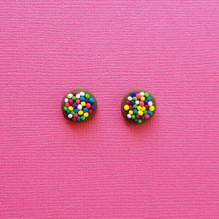 Chocolate Freckle Earrings