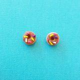 Chocolate Doughnut Sweet Earrings Handmade from Polymer Clay
